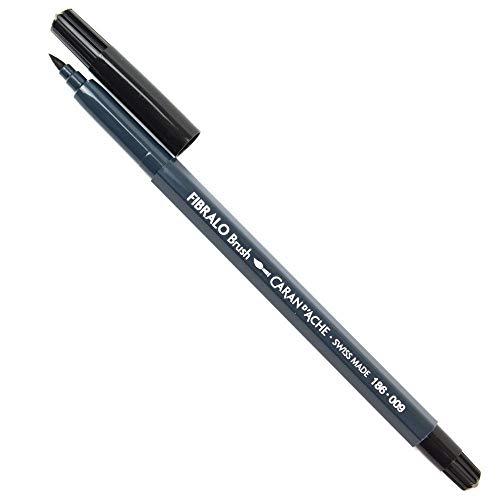 Caneta Caran D´Ache Aquarelável Fibralo Brush Preto 009