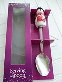 Snowman Novelty Serving Spoon Ideal for the Christmas Dinner Table & Rosanna 12 Days Of Christmas Gift-Boxed Dinner Plates Set of 4 ...