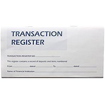 amazon com 25 checkbook transaction register calendar 2018 2019