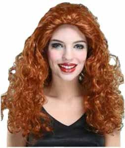 el carnaval peluca mujer pelirroja