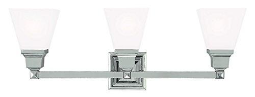 Polished Nickel Livex Lighting 1033-35 Mission 3-Light Bath Light