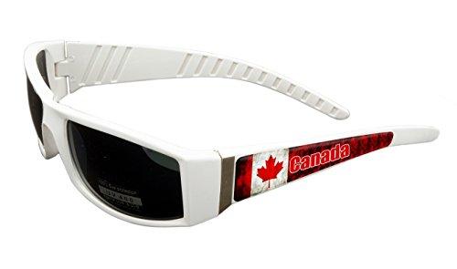 Canada Design White Frame/Black Lens 60mm Sunglasses Item # - Canada Usa Glasses