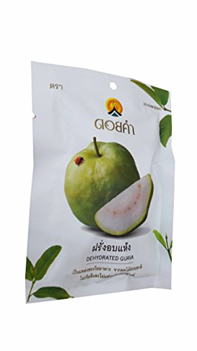 3 Packs of Dehydrated Guava, Made From Real Guava, Delicious Snack From Doi Kham Brand, Royal Project Product from Thailand. No Color and No Artificial Flavor Added. (40 g/ pack)