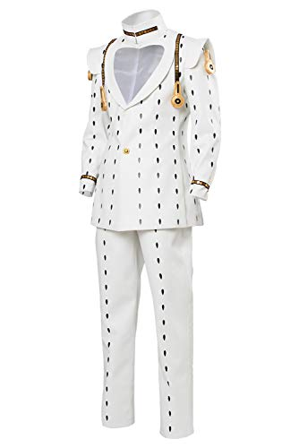UU-Style JoJo's Bizarre Adventure Bruno Bucciarati Halloween Cosplay Costume Full Set Suit Outfit Uniform (Female:Medium, White) -