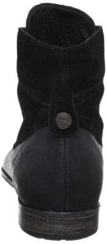 Think Denk - Botas Militares de cuero mujer negro - Schwarz (sz/kombi 09)