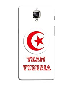 ColorKing Football Tunisia 03 White shell case cover for OnePlus 3T