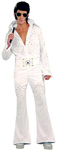 [Forum Novelties Women's Flirtin' with The 50's Vegas Superstar Costume, White, One Size] (White Elvis Costumes)