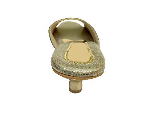 Step n Style - Sandalias de vestir de Material Sintético para mujer dorado dorado