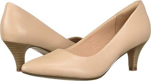 CLARKS Women's Linvale Jerica Pump, Blush Leather, 090 W US