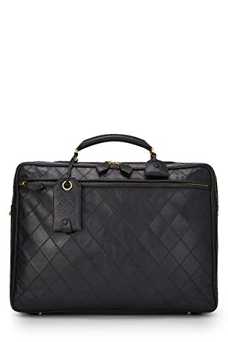 CHANEL Black Quilted Calfskin Suitcase (Pre-Owned)