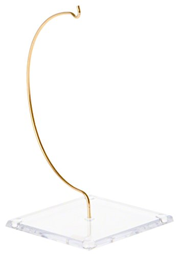 """Plymor Brand Wire Ornament Hanger With 3.25"""" Clear Acryli..."""