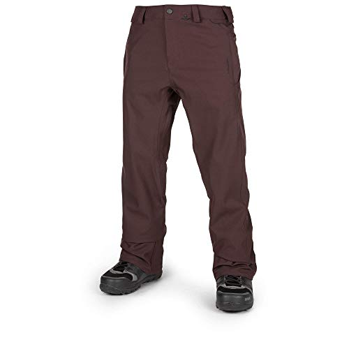 Volcom Men's Freakin Relaxed Fit Chino Style Snow Pant Black Red ()