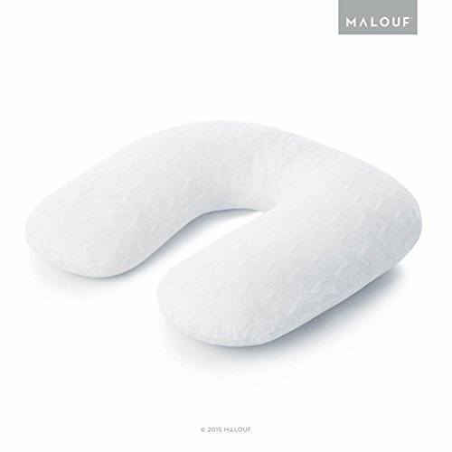 MALOUF Z Horseshoe Pregnancy Supportive U-Shaped Body Pillow, Queen