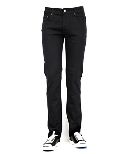 URBAN ICON MEN'S SKINNY JEANS WITH COMFORT STRETCH, 40X32, BLACK