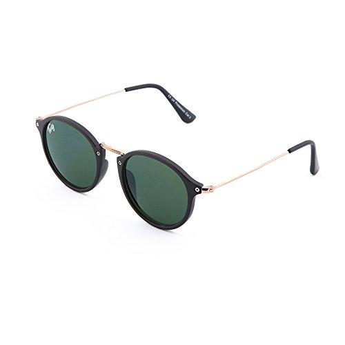 rondes soleil femme miroir TWIG Lunettes Klimt de homme Noir vintage Vert retrò 54wnZxYfq