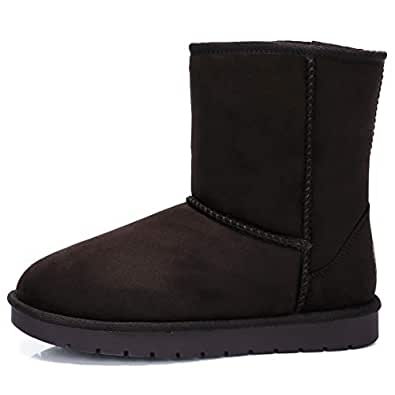 Amazon.com | Women's Warm Winter Boots Ankle High Classic