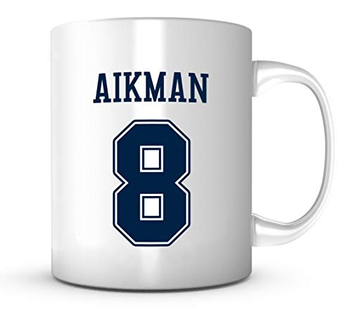 Troy Aikman Mug - Jersey Number Football Coffee ()
