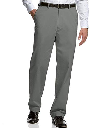 Haggar Men's Micropoly Flat Front Dress Pants