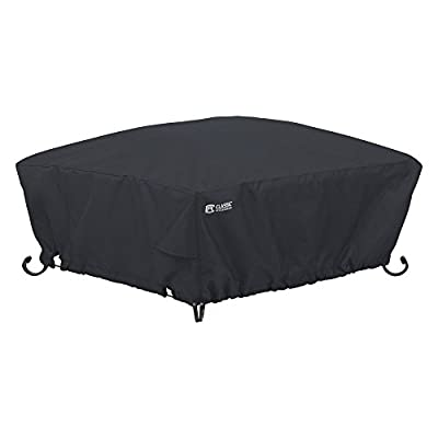 Classic Accessories Classic Black Square Full Coverage Fire Pit Cover