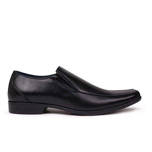Giorgio Men's Loafer Flats Black tr28rdvFe