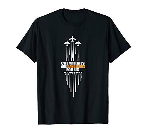 Chemtrails Conspiracy Theory T-Shirt Truth Planes