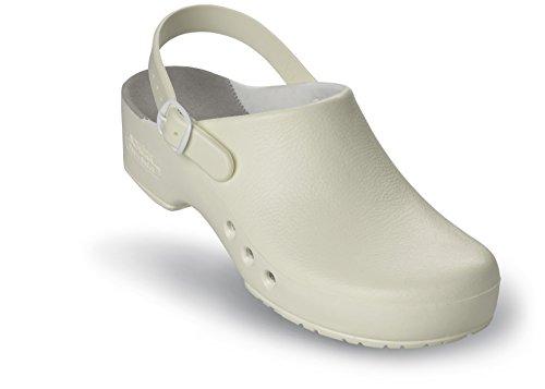 mit et professional Fersenriemen Blanc Schürr au niveau chiroclogs unisexe avec chaussures du oP Weiß sans talon qFYp6YaSw