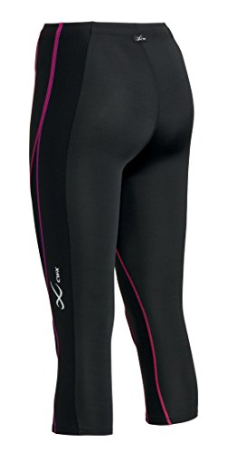 CW-X Conditioning Wear Women's 3/4 Performx Tights, X-Small, Black/Purple Gradation by CW-X (Image #2)