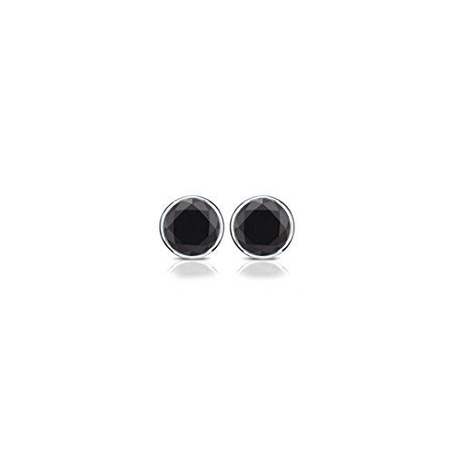 Crystal Inverness Piercing Bezel Earrings (Bezel Ear Piercing Studs)