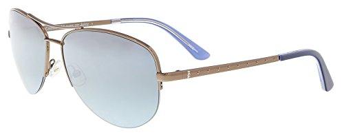 (Juicy Couture JU 594/S 009Q/GO Brown Aviator Sunglasses)