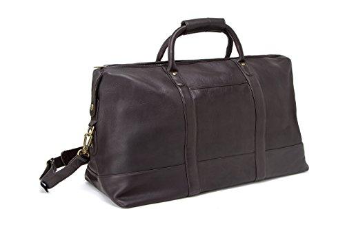 LeDonne Leather Company Unisex-Adult Classic Duffel Bag, Café, One Size by LeDonne Leather Company