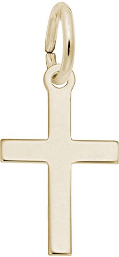 Rembrandt Small Plain Cross Charm - Metal - Gold-Plated Sterling Silver