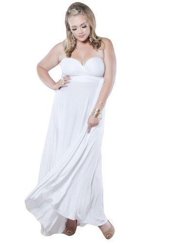 Sealed With A Kiss Designs Plus Size Eternity Maxi Convertible Dress in White - Size 5X, White (Dresses In 5x For Women)