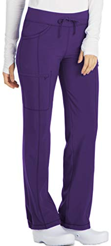 (Cherokee Infinity 1123A Low Rise Drawstring Pant Grape S)