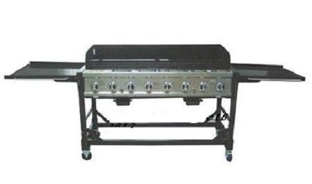 Rankam Commercial LP Gas Portable 8-Burner Event BBQ Gril...