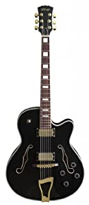 "Stagg ""Jazz"" Style Semi-Acoustic Model Electric Guitar - Black"