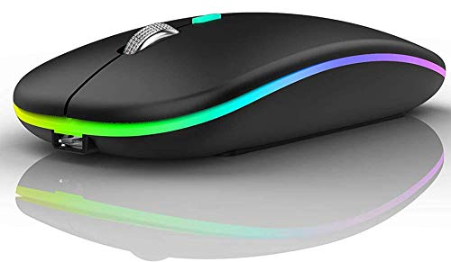 Offbeat ® – DASH 2.4GHz Wireless + Bluetooth 5.1 Mouse, Dual Mode Slim Rechargeable Silent Wireless Mouse, 3 Adjustable DPI, Works on 2 devices at the same time for Windows/Mac/Android/iPad/Smart TV