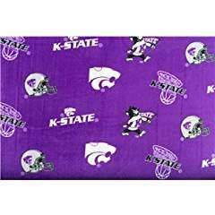 -1- Yard -Kansas State Fleece Fabric (for Quilting, Sewing, and More) 1- Yard X 60