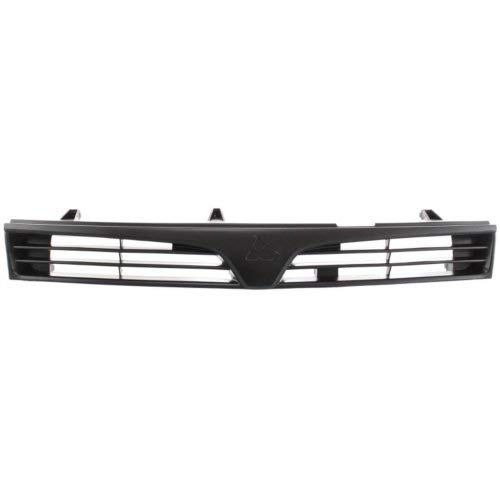 Garage-Pro Grille Assembly for MITSUBISHI MIRAGE 97-01 ABS Plastic Textured Black Sedan ()
