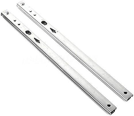 278mm Size : 182mm Dmqpp 17mm Mini Schubladenschieber Kugelf/ührung Zwei Abschnitte Breite Edelstahl Falten Schublade Stahlkugelschienen Slide M/öbelbeschl/äge Beschl/äge