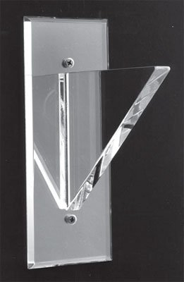 Mirror Back Flush Top No Lip Acrylic Shelf Support - 10 in - Pair by Mirart