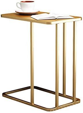 Winkelen Voor Axdwfd bijzettafel C-type woonkamertafel, metalen koffietafel, nachtkastje, duurzaam, 50x30x58cm (goud)  xJTQyFO