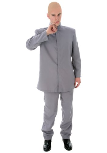 Fun Costumes Adult Deluxe Grey Suit Costume -