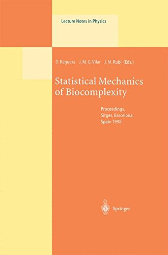Statistical Mechanics of Biocomplexity: Proceedings of the XV Sitges Conference, Held at Sitges, Barcelona, Spain, 8-12 June...