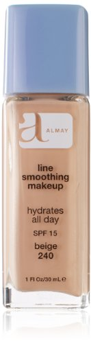 [Almay Line Smoothing Makeup with SPF 15, Beige 240, 1 Ounce] (Line Smoothing Liquid Makeup Foundation)
