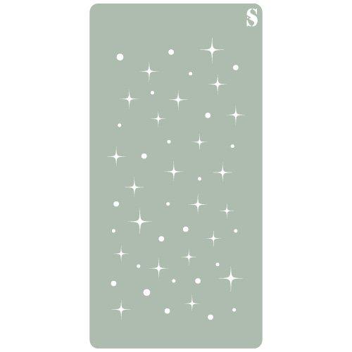 /Stencil Design 8/x 17/cm Alles Stencil Deco Scrapbooking 104/Sterne 10/x 20/cm/ Ma/ße