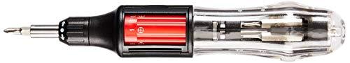 Neiko 01336A 10 in 1 Autoloading Heavy Duty Precision Screwdriver | Phillips, Flathead, Star | 3-Way Gearless Ratchet (Renewed)