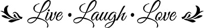 Wall Decal Quote Live Laugh Love Embellishment Wall Decal Sticker Art Mural Home Decor Quote Lettering Christian