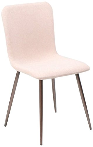 Pink Natural Wood - FurnitureR 4 Pcs Dining Chair Unique Style Fabric Cushion Dinning Seat Natural Wood Legs Armless Chairs Set Pink