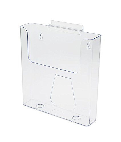 Slotwall Accessory - Source One Large Slotwall/Slatwall Clear Magazine Rack Brochure Holder (1 Pack)
