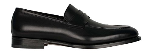 Pantofola Santoni In Pelle Nera